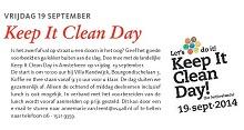 in de media keep it clean day